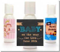 Baby Boy Chalk Inspired - Personalized Baby Shower Lotion Favors