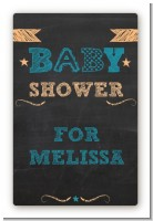 Baby Boy Chalk Inspired - Custom Large Rectangle Baby Shower Sticker/Labels