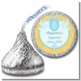 Baby Boy - Hershey Kiss Baptism / Christening Sticker Labels thumbnail
