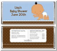 Baby Boy Hispanic - Personalized Baby Shower Candy Bar Wrappers