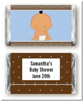 Baby Boy Hispanic - Personalized Baby Shower Mini Candy Bar Wrappers