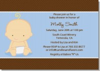 Baby Boy Caucasian - Baby Shower Invitations