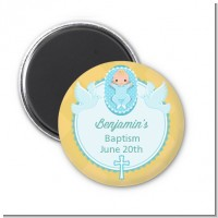 Baby Boy - Personalized Baptism / Christening Magnet Favors