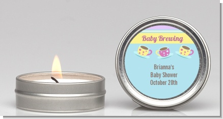 Baby Brewing Tea Party - Baby Shower Candle Favors