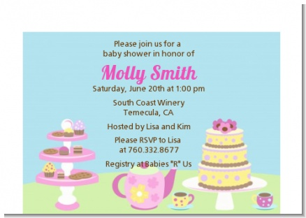 Baby Brewing Tea Party - Baby Shower Petite Invitations