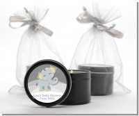 Baby Elephant - Baby Shower Black Candle Tin Favors