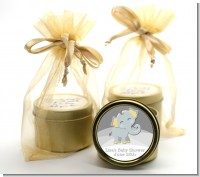 Baby Elephant - Baby Shower Gold Tin Candle Favors