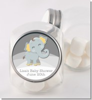 Baby Elephant - Personalized Baby Shower Candy Jar