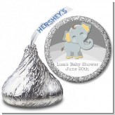 Baby Elephant - Hershey Kiss Baby Shower Sticker Labels