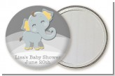 Baby Elephant - Personalized Baby Shower Pocket Mirror Favors
