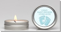 Baby Feet Baby Boy - Baby Shower Candle Favors