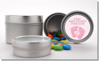 Baby Feet Baby Girl - Custom Baby Shower Favor Tins