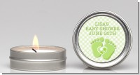 Baby Feet Baby Green - Baby Shower Candle Favors