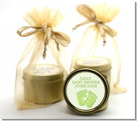 Baby Feet Baby Green - Baby Shower Gold Tin Candle Favors