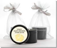 Baby Feet Neutral - Baby Shower Black Candle Tin Favors