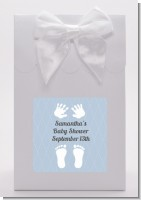 Baby Feet Pitter Patter Blue - Baby Shower Goodie Bags