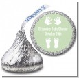 Baby Feet Pitter Patter Neutral - Hershey Kiss Baby Shower Sticker Labels thumbnail