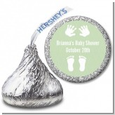 Baby Feet Pitter Patter Neutral - Hershey Kiss Baby Shower Sticker Labels