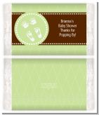 Baby Feet Pitter Patter Neutral - Personalized Popcorn Wrapper Baby Shower Favors