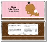 Baby Girl African American - Personalized Baby Shower Candy Bar Wrappers