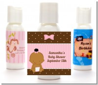 Baby Girl African American - Personalized Baby Shower Lotion Favors