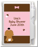 Baby Girl African American - Baby Shower Personalized Notebook Favor