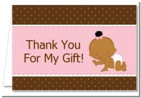 Baby Girl African American - Baby Shower Thank You Cards