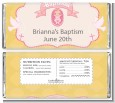 Baby Girl - Personalized Baptism / Christening Candy Bar Wrappers thumbnail