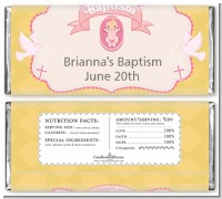 Baby Girl - Personalized Baptism / Christening Candy Bar Wrappers