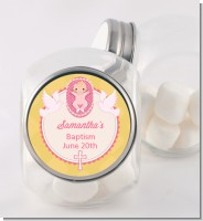 Baby Girl - Personalized Baptism / Christening Candy Jar