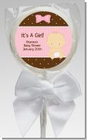 Baby Girl Caucasian - Personalized Baby Shower Lollipop Favors