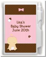 Baby Girl Caucasian - Baby Shower Personalized Notebook Favor