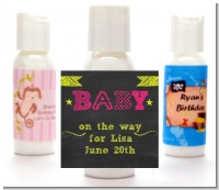 Baby Girl Chalk Inspired - Personalized Baby Shower Lotion Favors