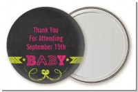 Baby Girl Chalk Inspired - Personalized Baby Shower Pocket Mirror Favors