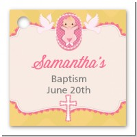 Baby Girl - Personalized Baptism / Christening Card Stock Favor Tags