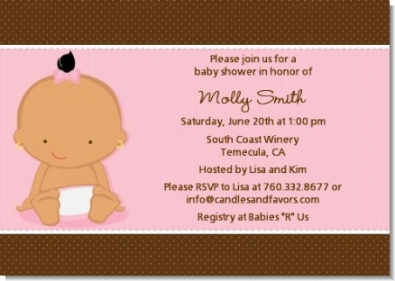 Baby Girl Hispanic - Baby Shower Invitations