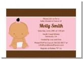 Baby Girl Hispanic - Baby Shower Petite Invitations