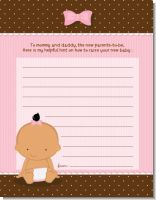 Baby Girl Hispanic - Baby Shower Notes of Advice