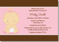 Baby Girl Caucasian - Baby Shower Invitations