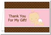 Baby Girl Caucasian - Baby Shower Thank You Cards