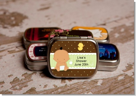 Baby Neutral Hispanic - Personalized Baby Shower Mint Tins