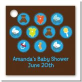 Baby Icons Blue - Personalized Baby Shower Card Stock Favor Tags