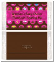 Baby Icons Pink - Personalized Popcorn Wrapper Baby Shower Favors