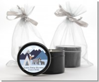 Baby Mountain Trail - Baby Shower Black Candle Tin Favors