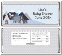 Baby Mountain Trail - Personalized Baby Shower Candy Bar Wrappers