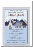 Baby Mountain Trail - Baby Shower Petite Invitations