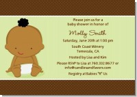 Baby Neutral African American - Baby Shower Invitations