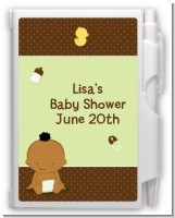 Baby Neutral African American - Baby Shower Personalized Notebook Favor