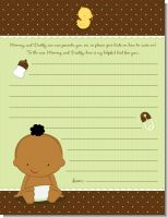 Baby Neutral African American - Baby Shower Notes of Advice