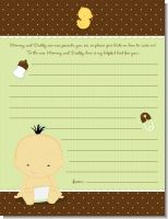 Baby Neutral Asian - Baby Shower Notes of Advice
